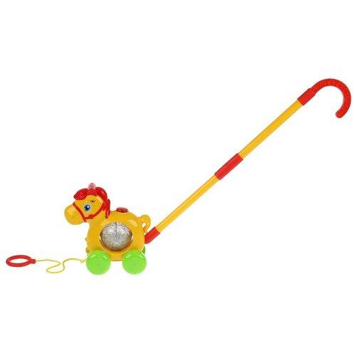 Каталка-игрушка Умка Лошадка HT858-R (24) желтый
