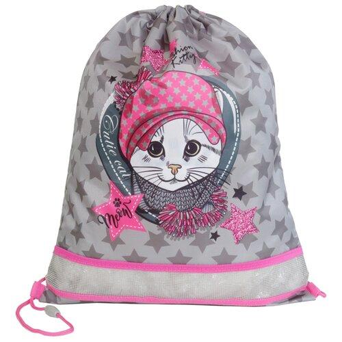 MagTaller Мешок для обуви 1 отделение XL Fashion Kitty (31721-50) серый/розовый недорого