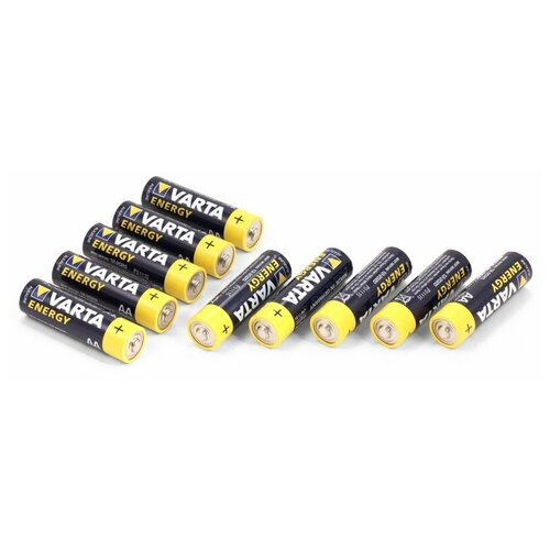 Фото - Батарейки пальчиковые VARTA LR06 (AA) Energy, 1.5V (10 шт) батарейки pkcell aa пальчиковые 12 шт уп