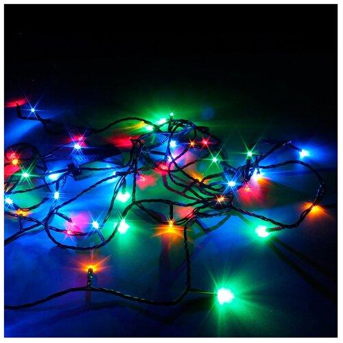 Гирлянда Sh Lights 1200 см, LD120-BO, 120 ламп, разноцветные диоды/черный провод
