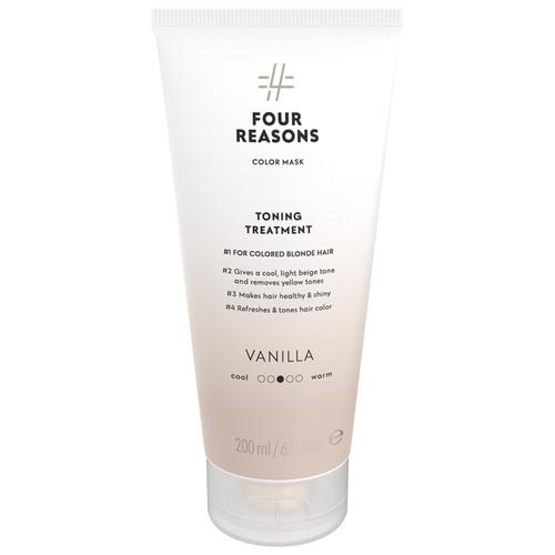 Купить Four Reasons Тонирующая маска для поддержания цвета окрашенных волос Toning Treatment Vanilla, 200 мл