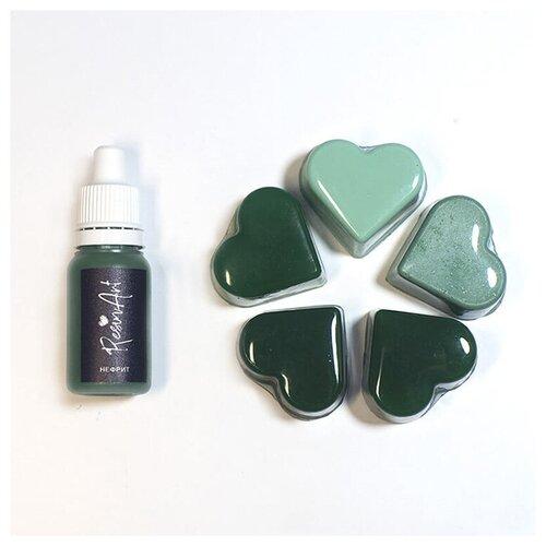 Купить Краситель для эпоксидной смолы ResinArt, нефрит, 10 мл, Вспомогательные жидкости