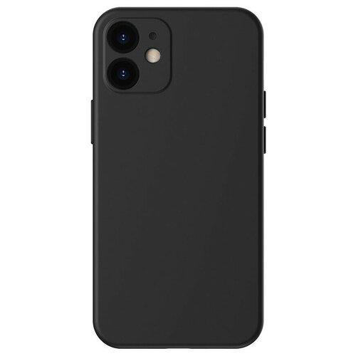 Фото - Силиконовый чехол Baseus Liquid Silica Gel Protective Case Black для iPhone 12 Черный (WIAPIPH61N-YT01) автомобильная зарядка baseus ccall yt01 black черный
