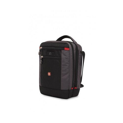 сумка планшет victorinox текстиль синий Сумка планшет SWISSGEAR, текстиль, черный/серый