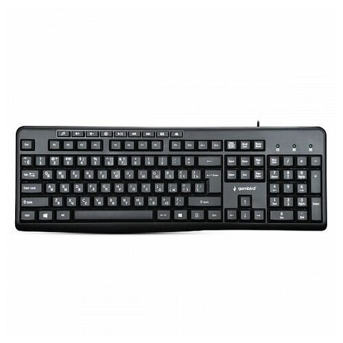 Клавиатура провоная Gembird KB-8440M black (USB, 113 кл, м/медиа, кабель 1,5м) (KB-8440M)