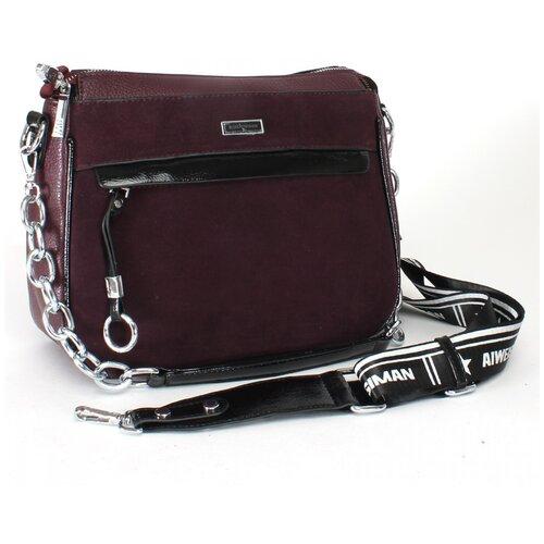 Женская сумка кросс-боди экокожа(искусственная кожа) + натуральная замша Kenguluna 533553