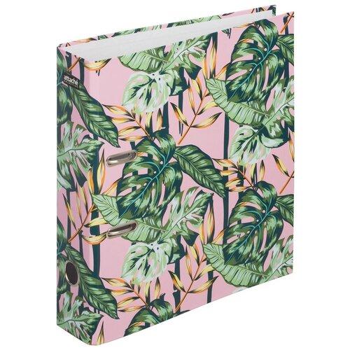 Купить Attache SELECTION Папка-регистратор Flamingo Jungle А4, ламинированный картон, 75 мм розовый/зеленый, Файлы и папки
