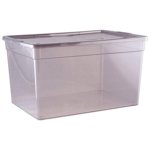 ПОЛИМЕРБЫТ Коробка для хранения Mystery 16л, 37х26х20,7 см прозрачный ящик для хранения полимербыт с крышкой прозрачный пластик 16л