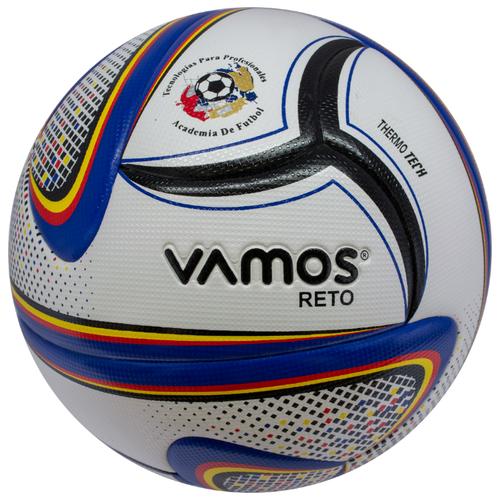 Мяч футбольный Vamos RETO 4, 4 размер, белый, синий
