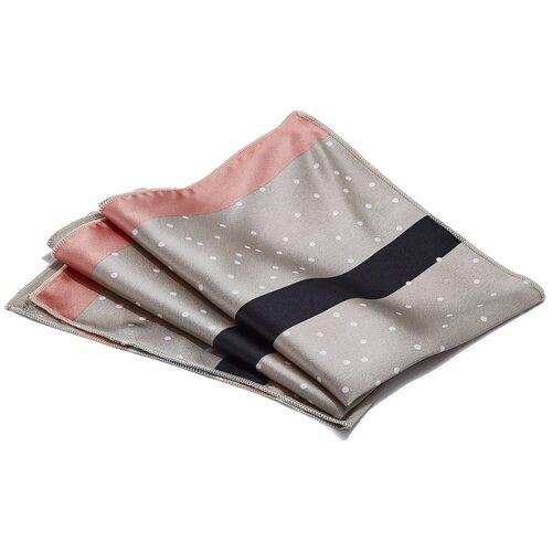 Платок Nothing Shop (бежевый; розовый; черный) 48 х 48 см
