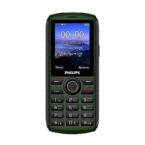 Фото - Телефон Philips Xenium E218, темно-зеленый телефон philips xenium e117