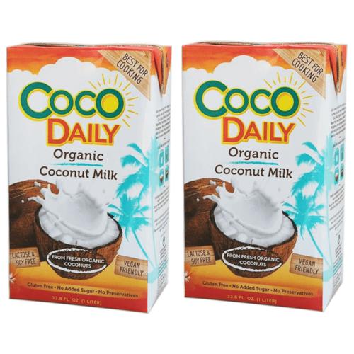Молоко кокосовое Coco Daily Органическое 19%, 1 л, 2 шт.