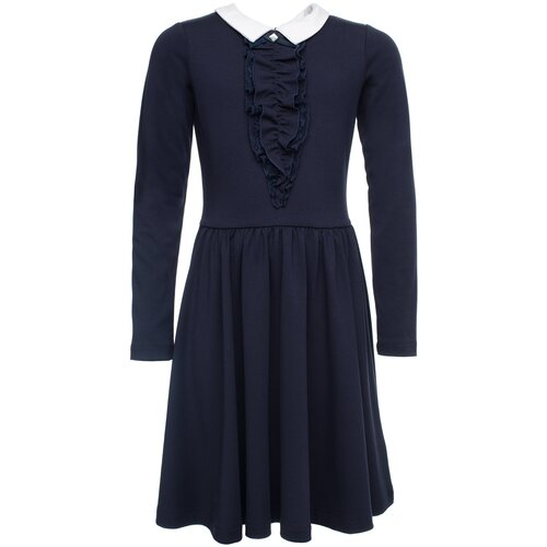 Фото - Платье playToday размер 122, темно-синий/белый платье mayoral размер 7 122 темно синий