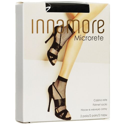 Капроновые носки Innamore Microrete Calzino, 2 пары, размер UNI, nero