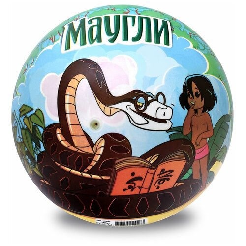 Мяч ЯиГрушка Маугли, 23 см, синий/зеленый
