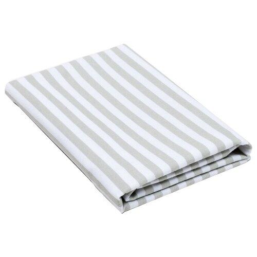 Купить Многоразовые пеленки Крошка Я Полоски 75х120 серый/белый 1 шт., Пеленки, клеенки