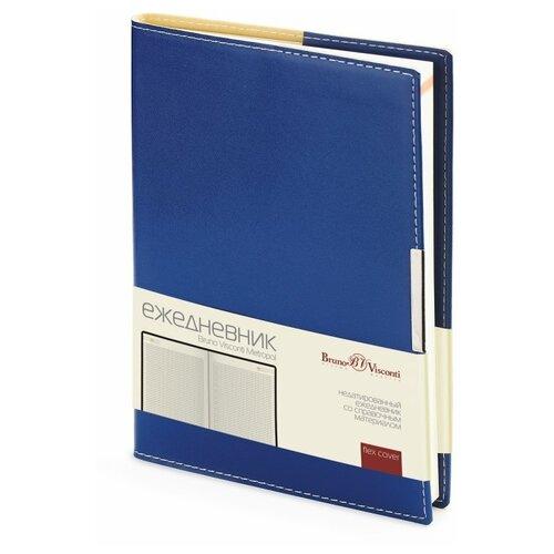 Купить Ежедневник Bruno Visconti Metropol недатированный, искусственная кожа, А5, 136 листов, синий, цвет бумаги тонированный, Ежедневники