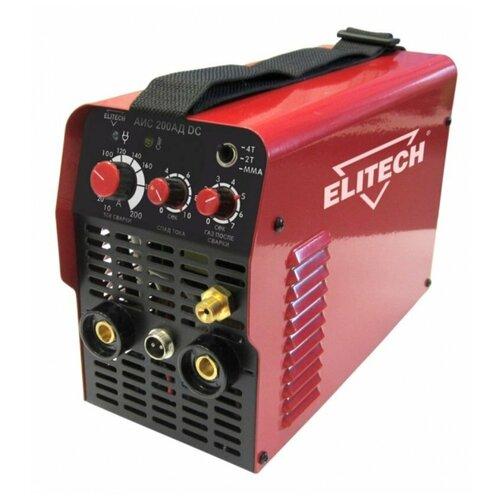 Сварочный аппарат инверторного типа ELITECH АИС 200АД DC TIG, MMA сварочный аппарат elitech аис 200д tig mma