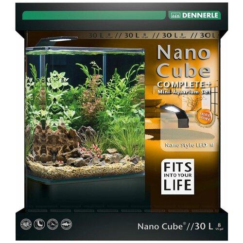 Аквариумный набор 30 л Dennerle NanoCube Complete+ 30 Style LED M черный аквариум dennerle nanocube 20 литров 1 шт
