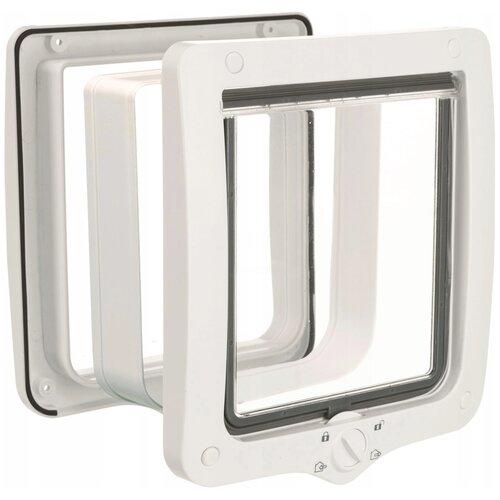 Дверца в дверь для животных TRIXIE 4-Way Flap Door XL with Tunnel 24х28 см белый