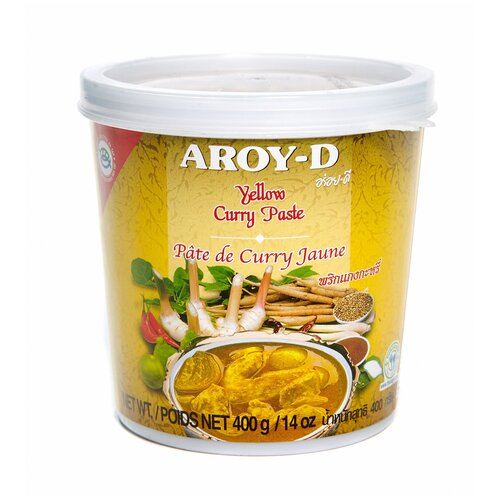 Aroy-D Паста Карри жёлтая 400 г паста чили с соевым маслом aroy d 260 г