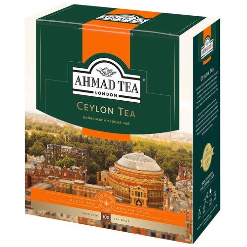 чай черный ahmad tea таинственные сумерки ассорти в пакетиках 30 шт Чай черный Ahmad Tea Ceylon в пакетиках, 100 шт.