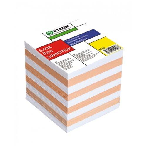 СТАММ Блок для записи Стамм, 9 х 9 х 9 см (БЗ36) белый/персиковый недорого