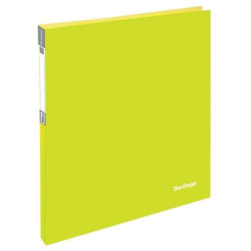 Фото - Berlingo Папка на 2-х кольцах Neon A4, 25 мм, 700 мкм, пластик неоновый желтый berlingo папка с 20 вкладышами neon a4 14 мм 700 мкм пластик зеленый