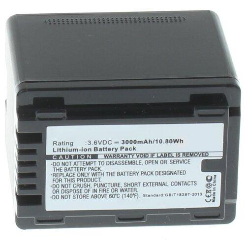 Фото - Аккумулятор iBatt iB-U1-F456 3000mAh для Panasonic HC-V770, HC-V760, HC-VXF990, HC-VX980, HC-V260, HC-V380, HC-V730, HC-VX870, HC-V710, HC-W850, HC-V270, HC-V750, HC-V510, HC-V210, HC-V530, HC-W580, HC-V230, видеокамера panasonic hc mdh3e