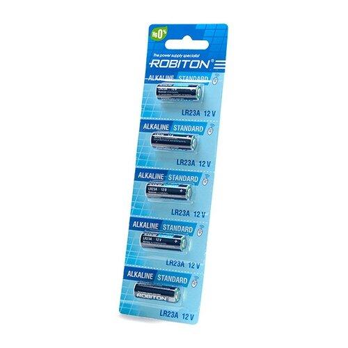 Фото - Батарейка A23 - Robiton Standard R-23A-0-BL5 (5 штук) 14081 батарейка a23 12v для брелоков сигнализаций щелочная 1 шт 23a 01
