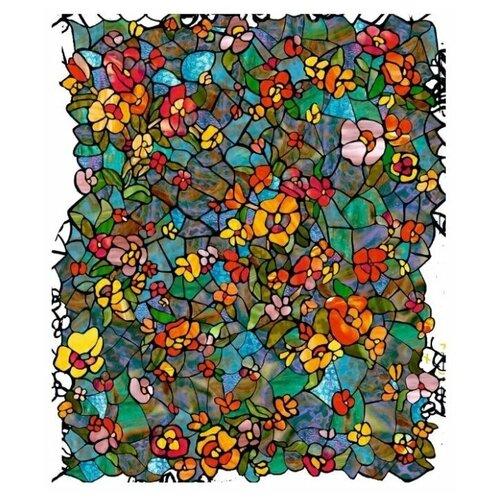 0431-346 D-C-fix 2х0.45м Пленка самоклеющаяся Витраж цветочный сад