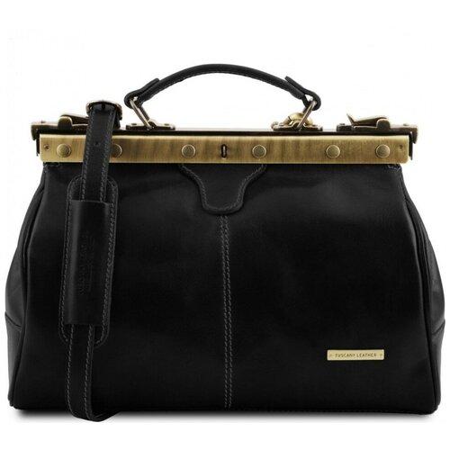 Кожаный саквояж Tuscany Leather Michelangelo TL10038 Черный