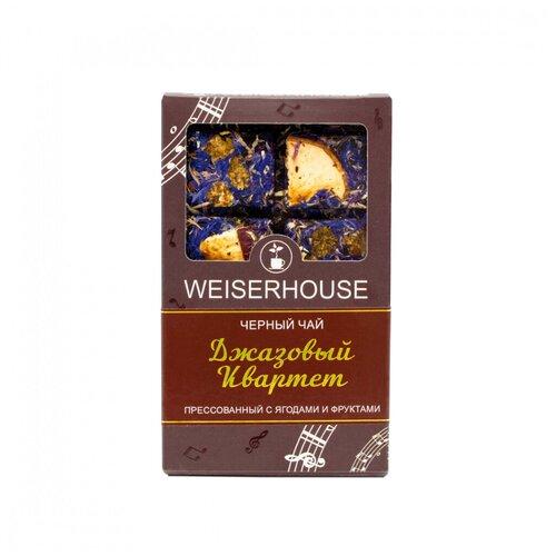 Фото - Чай Weiserhouse Джазовый квартет, чёрный прессованный с добавками, плитка, 75 гр чай чёрный вселенная прессованный блин 75 г