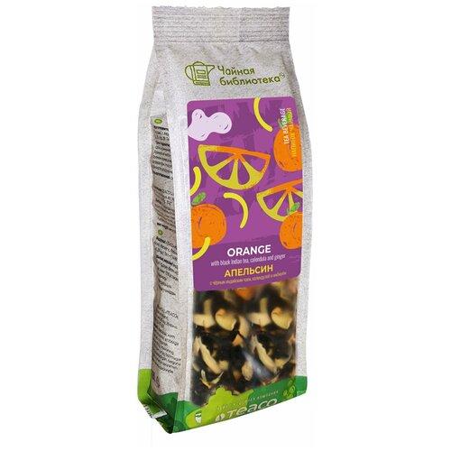Чай черный Teaco Чайная библиотека Апельсин с календулой и имбирем, 100 г