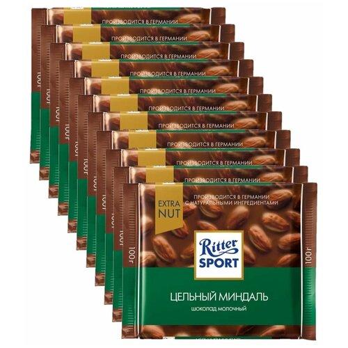 Фото - Шоколад Ritter Sport Extra Nut молочный цельный миндаль, 100 г, 11 шт. шоколад ritter sport молочный карамельный мусс с миндалем 100 г