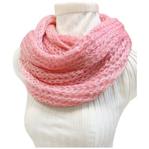 Снуд Crystel Eden 5230 100% шерсть розовый