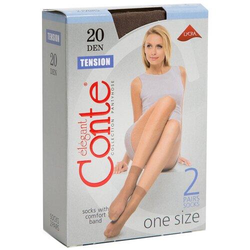 Капроновые носки Conte Elegant Tension 20 den 8С-8СП, 2 пары, размер 23-25, shade