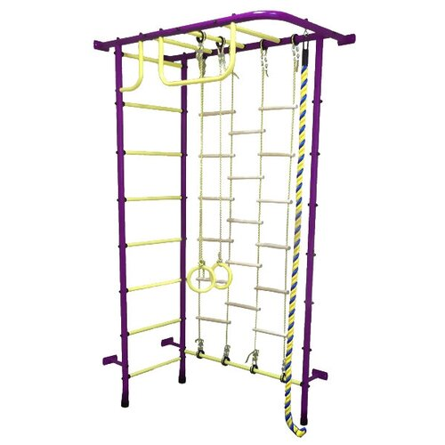 Спортивно-игровой комплекс Пионер 8ЛМ, пурпурный/желтый