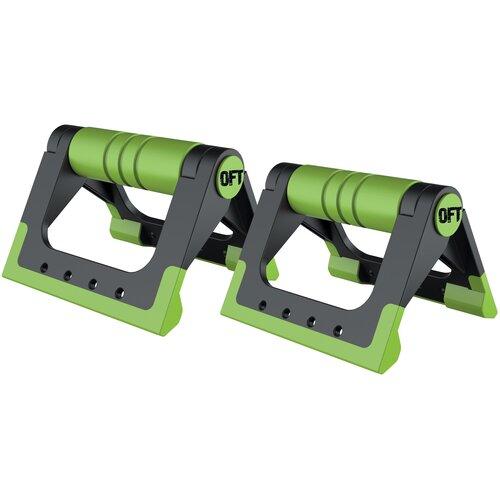 Упоры дуговые Original FitTools FT-PUB черный/зеленый перчатки original fittools ft glv01 черный белый m
