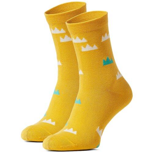 Носки Красная Жара (светло-оранжевый; белый; изумрудно-зеленый) 36-40