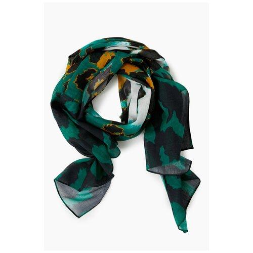 Шарф женский Finn Flare, цвет: зеленый A20-11402_500, размер: Единый шарф женский finn flare цвет молочный a20 11147 711 размер единый