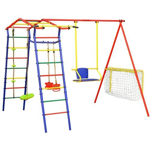 Спортивно-игровой комплекс КМС Игромания-2 Футбол дачный, синий/красный/желтый