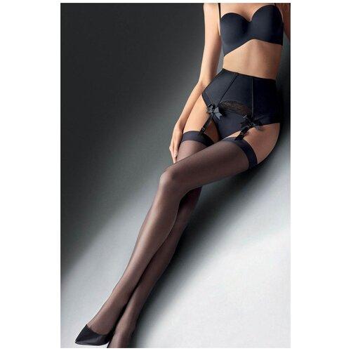 Marilyn Ультратонкие чулки Coco Air под пояс черный 3-4 размер