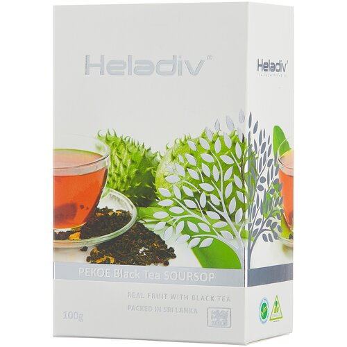 чай зеленый heladiv pekoe green tea soursop 250 г 1 уп Чай черный Heladiv PEKOE Black Tea Soursop, 100 г, 1 уп.