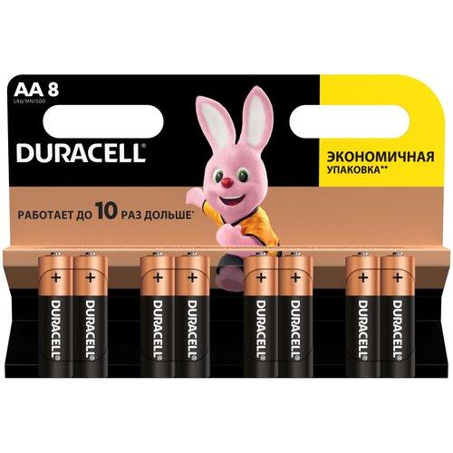 Фото - Батарейка Duracell Basic AA, 8 шт. батарейка energizer max plus aa 4 шт