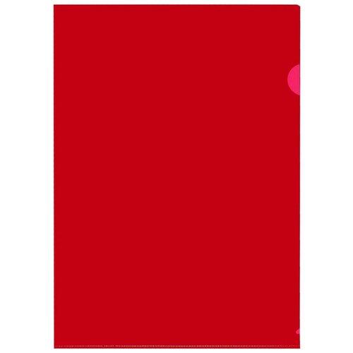 Папка уголок, 150 мкм, красный 10шт/уп Россия, 4 уп