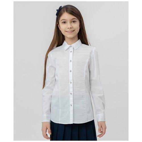 Рубашка Button Blue размер 140, белый