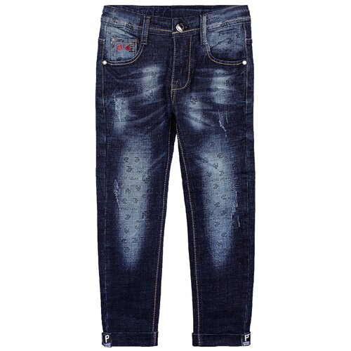 Джинсы playToday размер 104, темно-серый брюки playtoday classic girls 394424 размер 122 темно серый