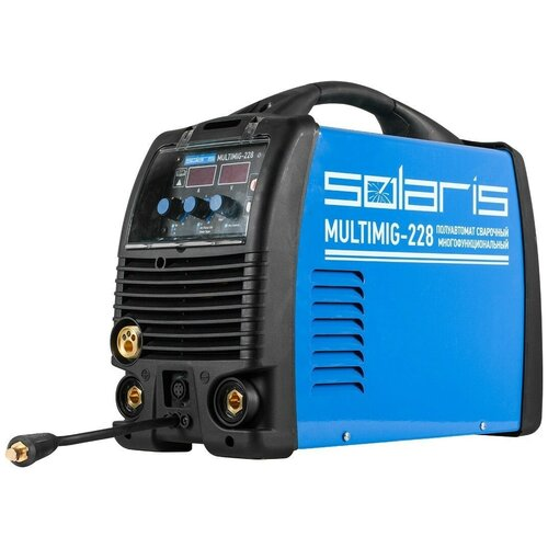 Сварочный аппарат инверторного типа Solaris MULTIMIG-228 (MIG-MMA-TIG) без TIG горелки TIG, MIG/MAG, MMA