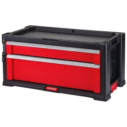 Фото - Ящик KETER 2 Drawers Tool Chest (17199303) 56.2x28.9x26.2 см 22'' красный ящик keter 2 drawers tool chest 17199303 56 2x28 9x26 2 см 22 красный